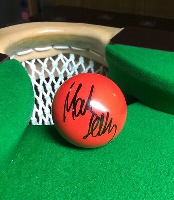 .great Christmas Gift Mark Selby 2016 World Champion Signed New Red Snooker Ball