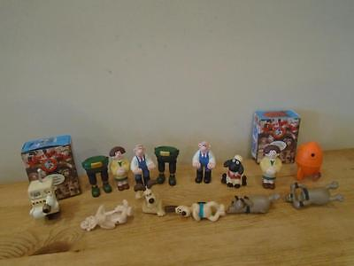 14 Wallace and Gromit Figures   incl. Oven and Rocket Boxed