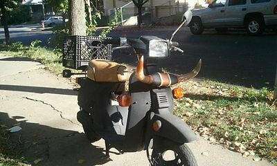 HONDA NQ50 Spree Seat Cover Scooter 1985 1986 1987  TAN & BLACK WELT (ST/W)