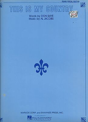 JM sheet music   THIS IS MY COUNTRY