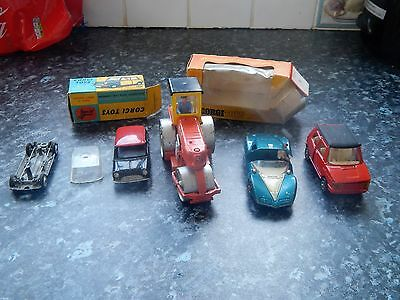 Dinky And Corgi Vehicles Cars Etc Small Job Lot