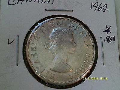 Canada 50 Cents Silver Coin .800 1962  KM56