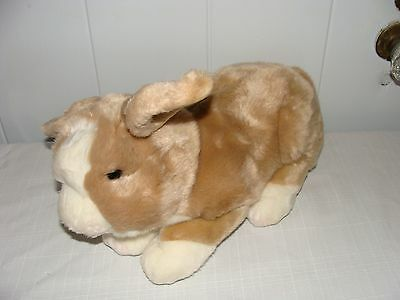 "Russ YOMIKO Plush DUTCH Bunny Rabbit Large 14"" Long Super soft Brown/White EC"