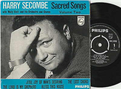 """Harry Secombe Sacred Songs Vol. 2 (14914) 7"""" EP 1960 Philips BBE 12393"""