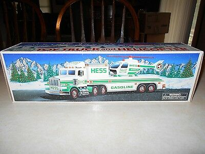 1995 Hess Toys Truck And Helicoper  Never Open