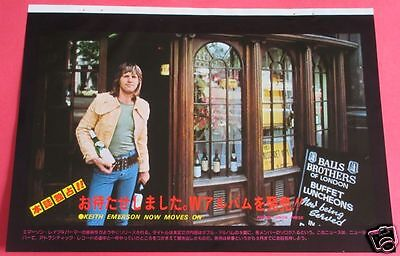 Keith Emerson 1977 Clipping Japan Magazine Os 2A