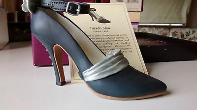 """Collectible Miniature Shoe """"Just the Right Shoe"""" by Raine - Tuxedo Shoe (Boxed)"""