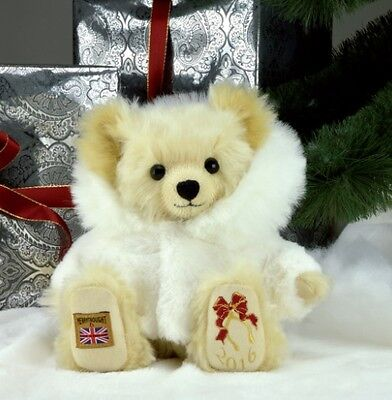 Merrythought Christmas Teddy Bear 2016, Limited Edition 100 Pieces, BNWT