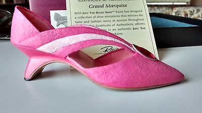 """Collectible Miniature """"Just the Right Shoe"""" by Raine - Grand Marquise (Boxed)"""