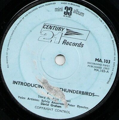 "Introducing Thunderbirds (15664) 7"" EP 33rpm 1965 Century 21 Records MA.103"