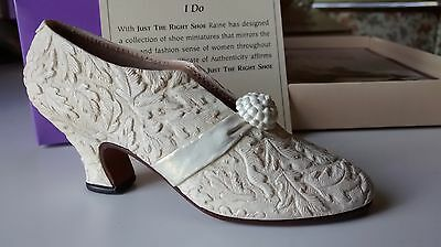 """Collectible Miniature Shoe """"Just the Right Shoe"""" by Raine - I Do (Boxed)"""
