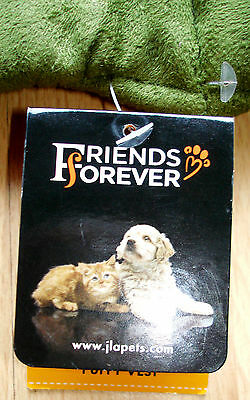 Dog Puffy Vest Forever Friend Medium Water Stain Chew Resistant Durable Unisuede