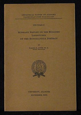 Alabama Summary Report On The Building Limestones Of The Russellville District