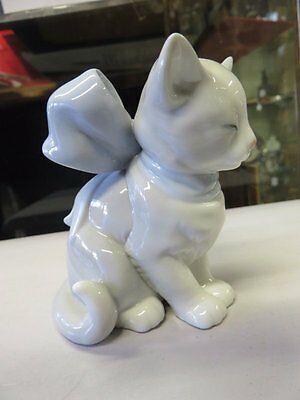 Large NAO Lladro Kitten With Bow.