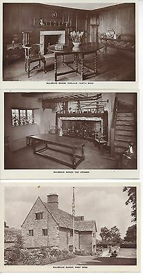 set of 6 real photo postcards Sulgrave Manor UK