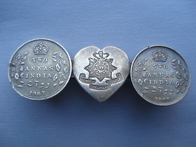 C1907 Vintage The Lancashire Fusiliers Sweethearts Pin Brooch