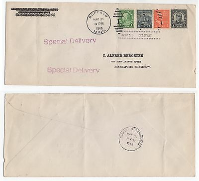 1940 USA Special Delivery Cover BUFFALO To MINNEAPOLIS MINNESOTA