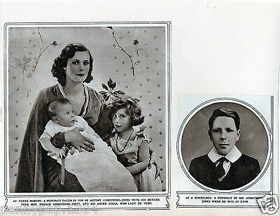 Antony Armstrong-Jones As A Baby With His Mother And Sister, Lady De Vesci,