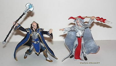 SCHLEICH * 2 Collectable Knights Magician Figures  * Fantasy / Myth / Magic *