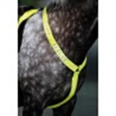 Shires Equiflector Breastplate HORSE/COB YELLOW reflective visibility be seen