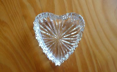 Waterford Crystal Heart Shaped Dressing Table Trinket Dish