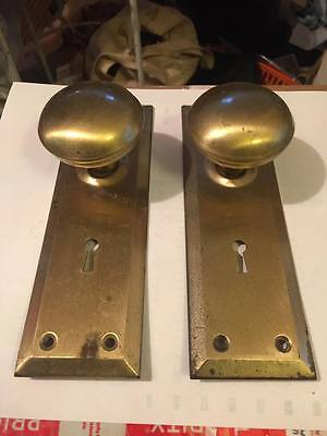 Vintage Nos Skeleton Key Door Plates And Knobs