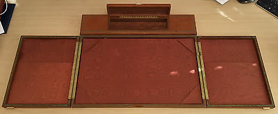 Vintage Cordovan Leather Gilded Executive Writing Blotter