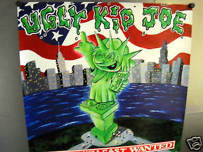 UGLY KID JOE Statue Of Liberty Giving The Finger LEAST WANTED 1992 Promo Poster