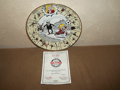Danbury Mint Limited Edition Beano Plate Ball Boy With Cert