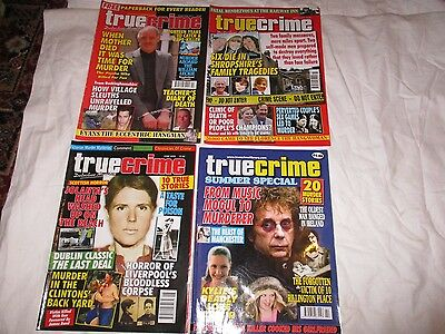Job Lot 4 True Crime Magazines - True Crime