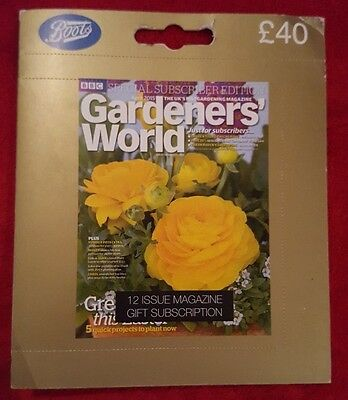 BBC Gardeners World ~ Annual Magazine Subscription (RRP £40) 12 Issues