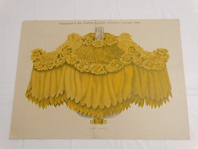 ANTIQUE 1892 PATTERN DESIGN for Gorgeous Victorian Lamp Shade