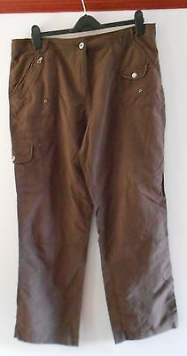 Brown Casual Trousers From Debenhams Size 16