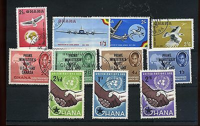 Ghana.11 --1958 Fine Used Stamps On Stockcard.