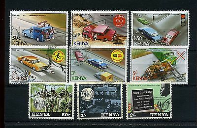 Kenya. 9 -- 1978 Fine Used Stamps On Stockcard