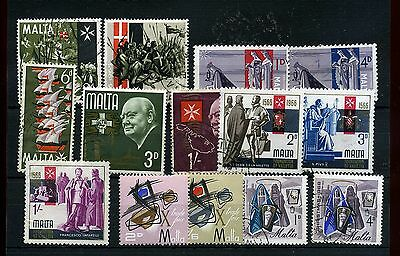 Malta.14-- 1965/6 Mounted Mint/used  Stamps On Stockcard