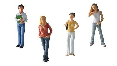 1:12 scale dolls house miniature resin dolls modern young women 4 to choose.
