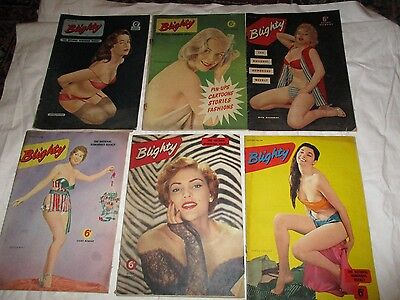 Job Lot 6 Issues Blighty The National Humorous Weekly 1955 Set One