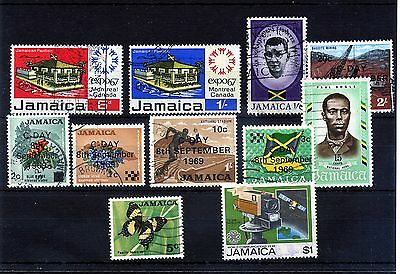 Jamaica. 11 -- 1967 Onwards Used Stamps On Stockcard