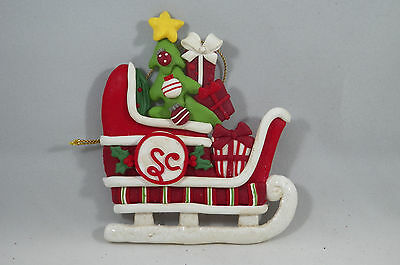 Clay dough Sleigh with Decorated Tree Christmas Tree Ornament new holiday
