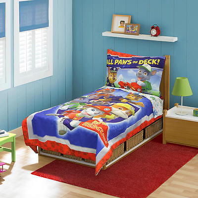 New Nickelodeon Paw Patrol 4 Piece Toddler Bedding Set Model:19016657