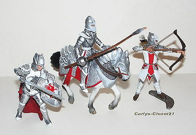 SCHLEICH * 3 Collectable Knights & Horse * Fantasy / Myth / Magic *