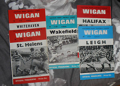 5 Wigan Rugby League Programmes 1960s