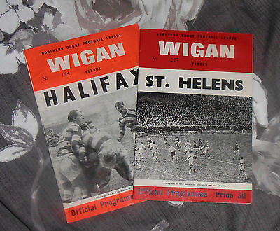 2 Wigan Rugby League Programmes 1960s