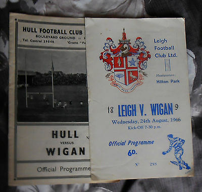 2 Wigan Rugby Programmes 1960s