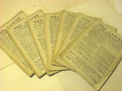 7 ANTIQUE 1919 The LANCET Journal of British and Foreign Medical Surgical