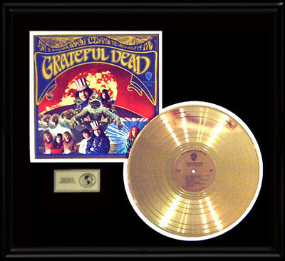 Grateful Dead Rare Self Titled Debut Stereo Lp Gold Record Disc Album Rare Frame