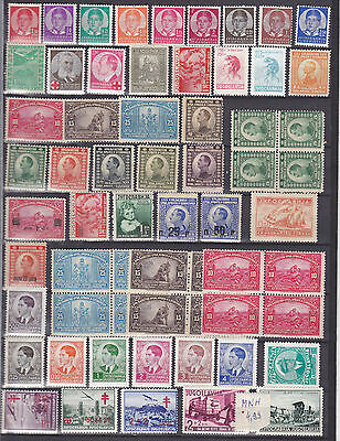 Lot Yugoslavia Jugoslawien 1920/1940 hinge* nice different stamps briefmarken