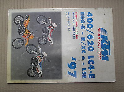 KTM 400 620 LC4 LC4-E 1997 genuine owners handbook good USED