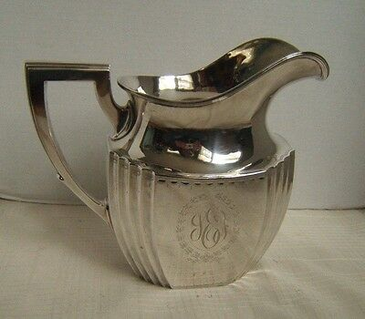 Antique Durgin Sterling Silver Water Pitcher 4 ½ Pt Very Nice Some Decoration